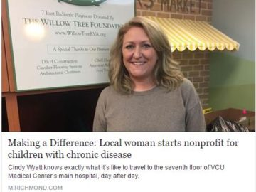 The Willow Tree Foundation recognized in the Richmond Times-Dispatch – December 25, 2016