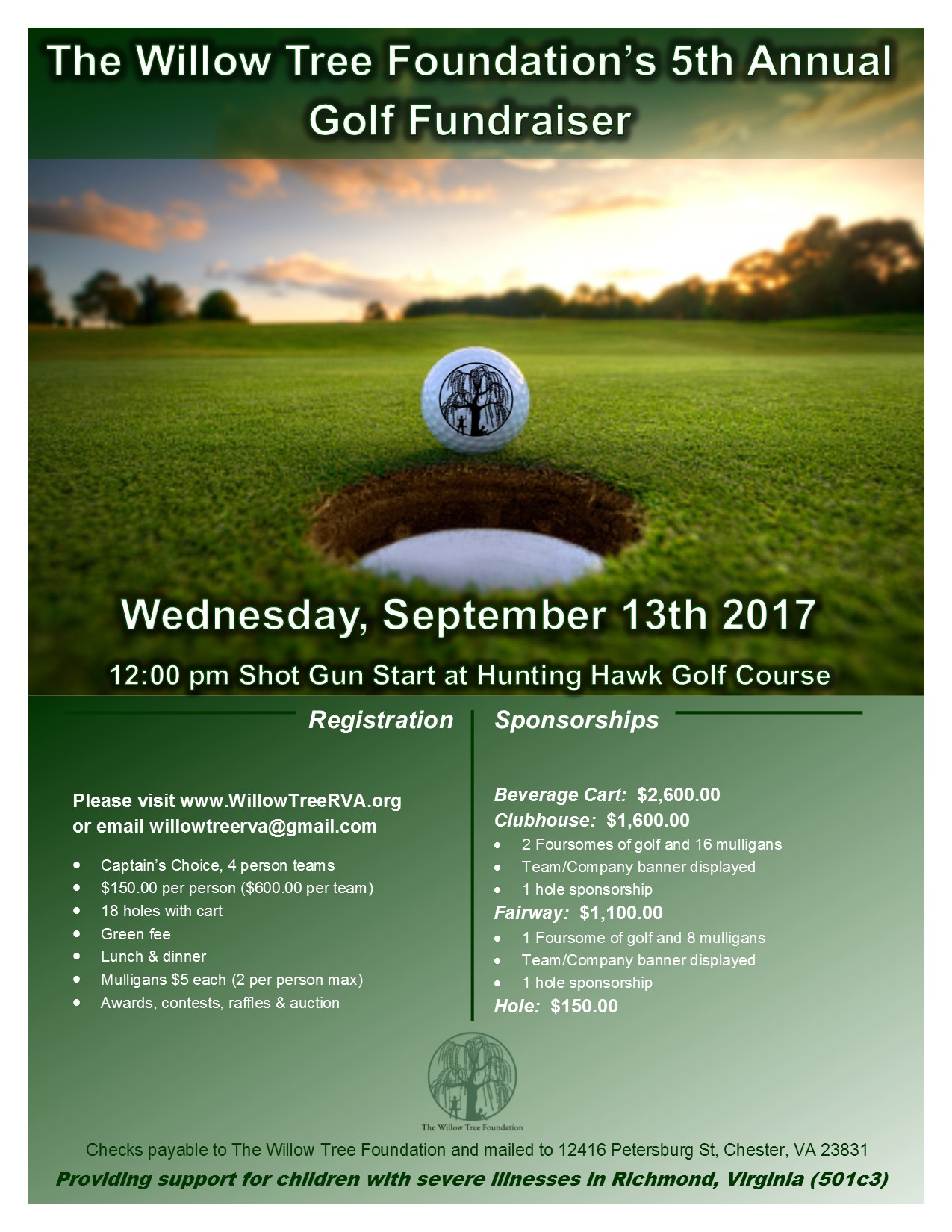 The Fifth Annual Logan Wyatt Friends Golf Tournament U2013 September 13, 2017